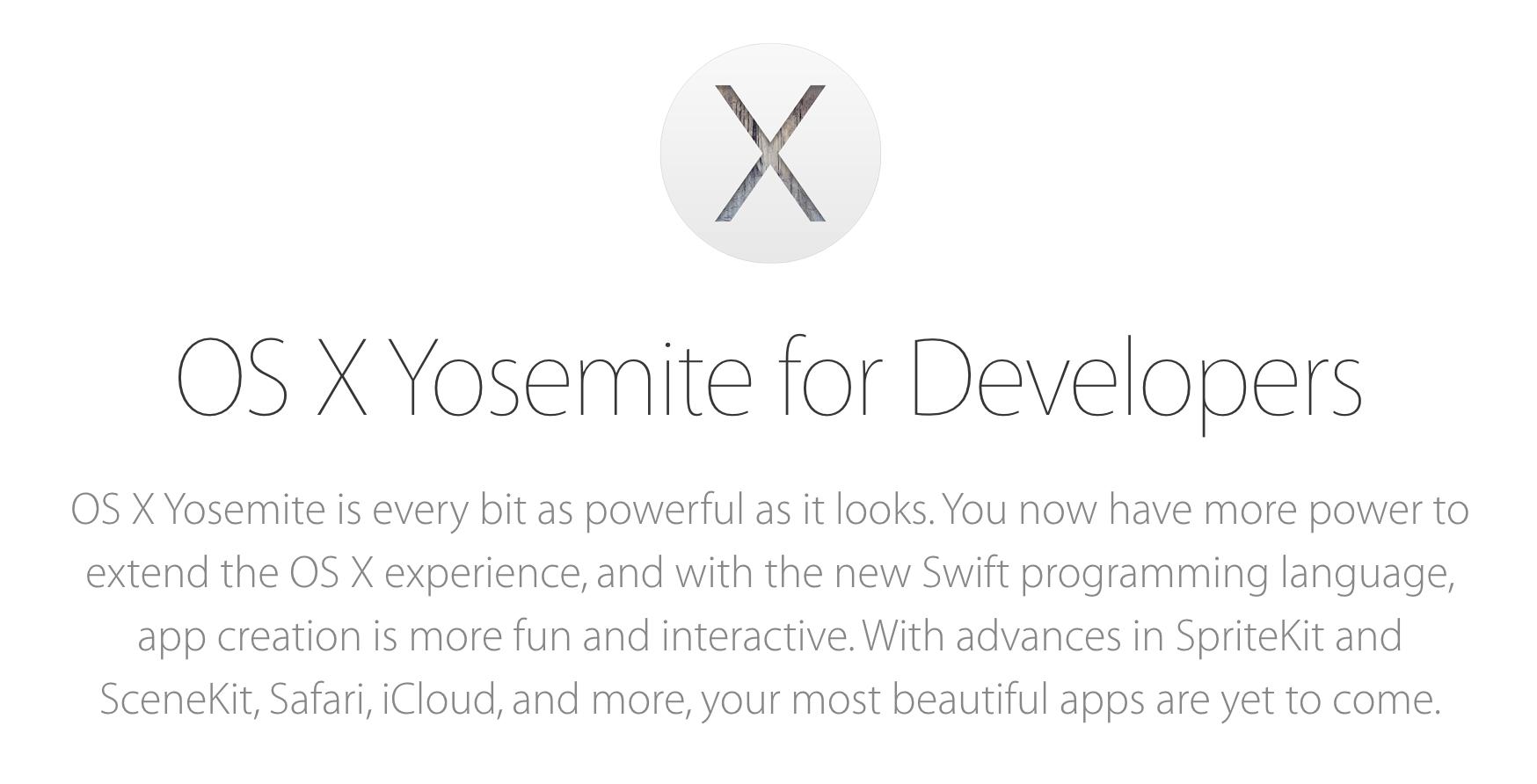 OS X Yosemite 10.10.4 (14E33b) 개발자 버전 공개.