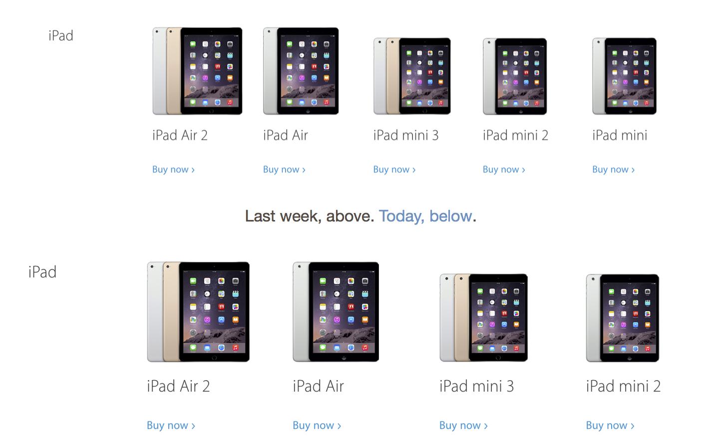 1세대 iPad mini 공식 판매 종료.