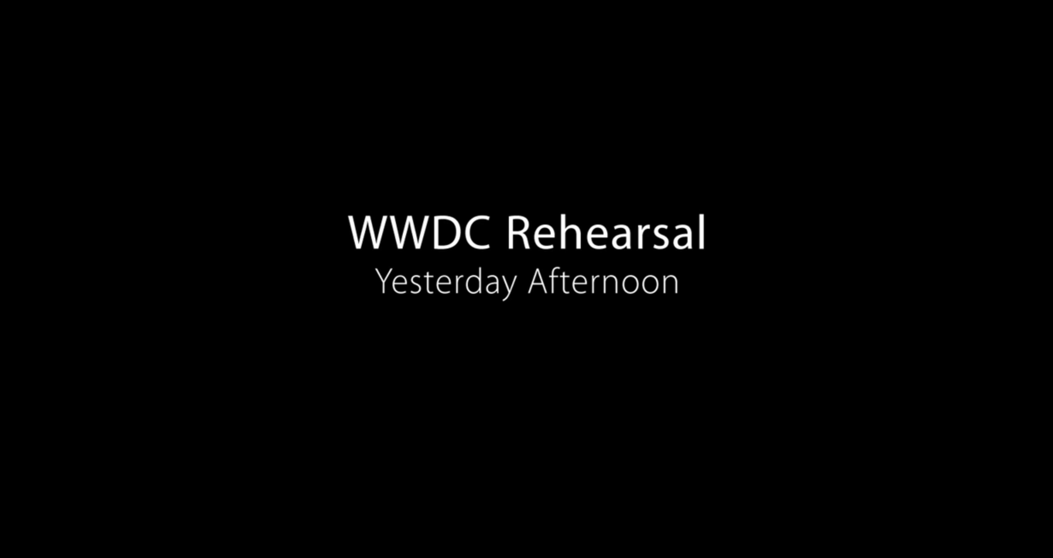 WWDC 15 오프닝 영상 BackStage 공개.