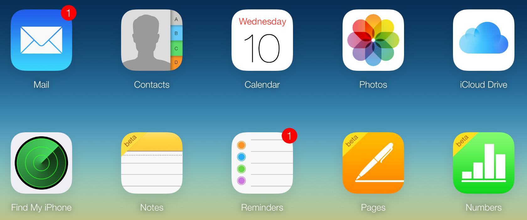 iCloud.com에 새로운 메모 베타 추가.