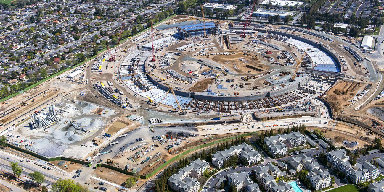 Apple construction, Cupertino, CA