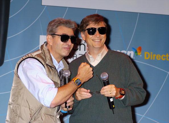 Nick Hayek Jr., CEO Swatch Group, and Bill Gates, CEO Microsoft (Photo by Robin Platzer/FilmMagic)