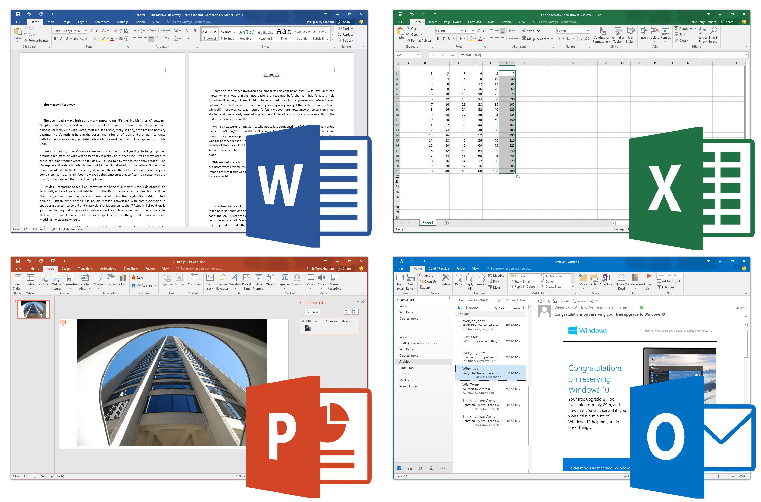 MSOffice 2016, Mac버전 64bit 지원