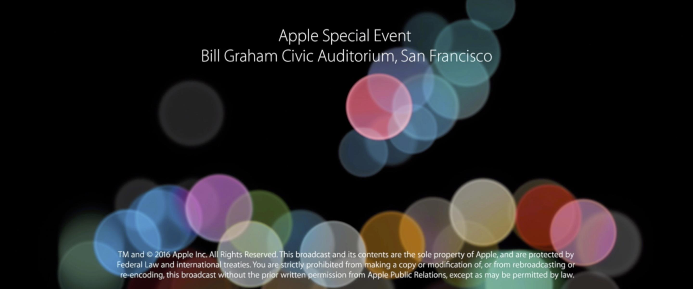 애플 스페셜 이벤트 내용 정리, iPhone 7 발표