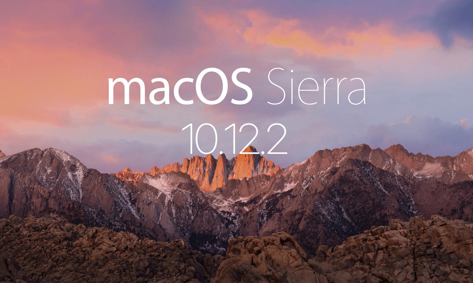 macOS 10.12.2 업데이트 배포