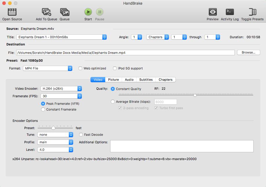 비디오 변환 HandBrake 1.0.2 배포