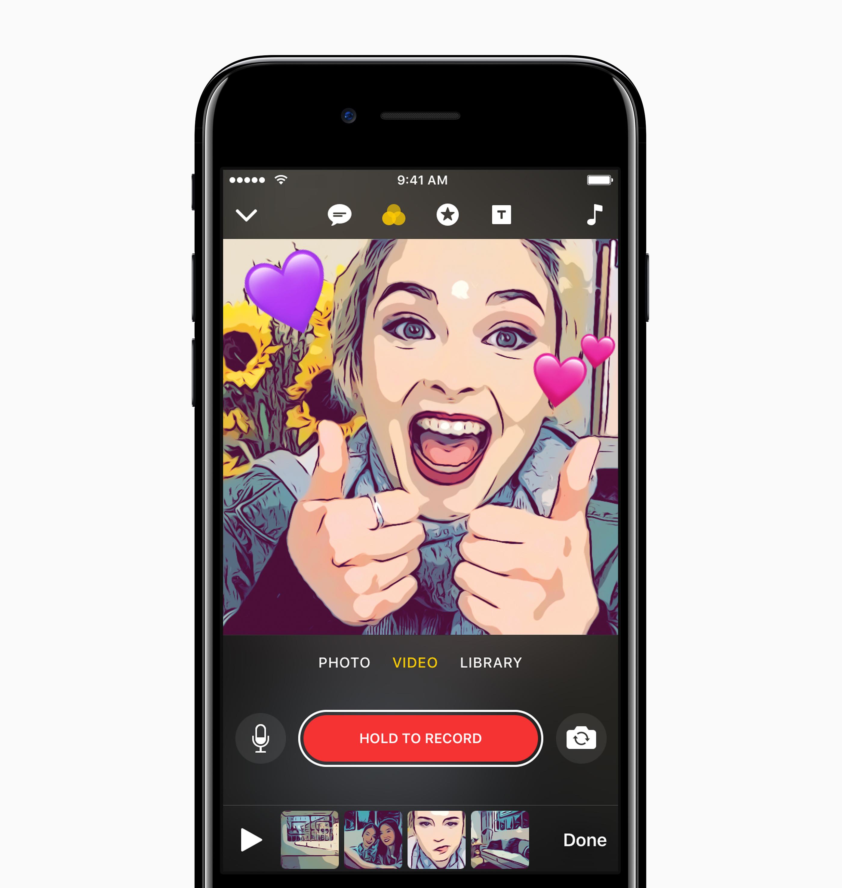 iOS 새로운 어플리케이션 Clips – 4월 출시