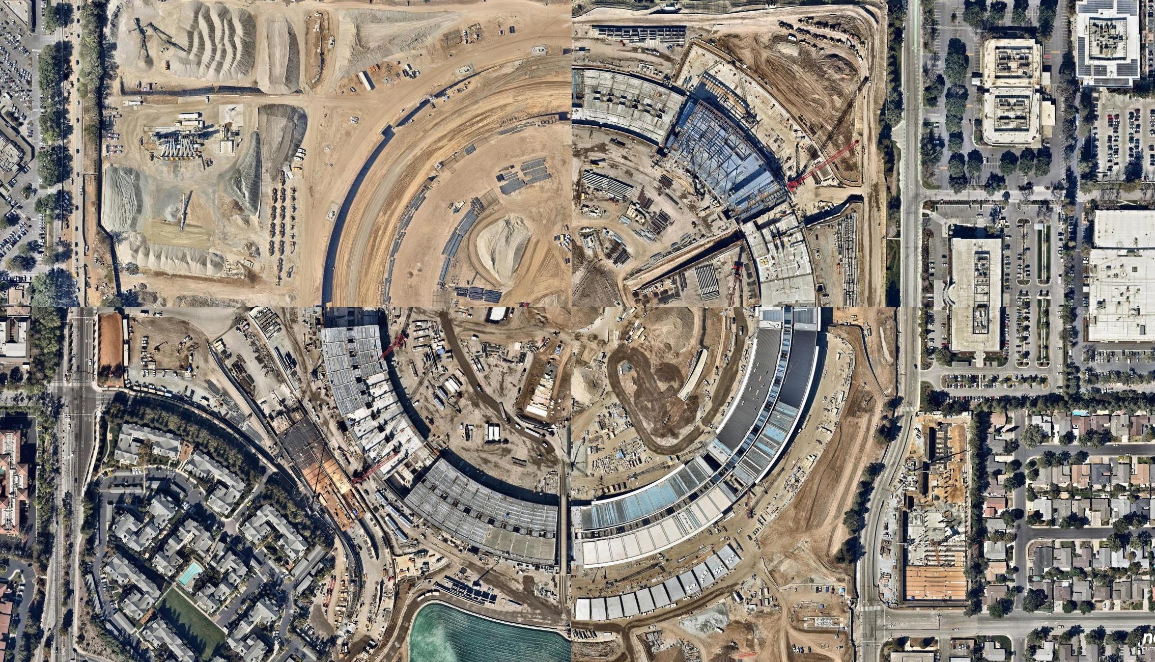 Apple Park 초고해상도 항공 사진 – 니어맵