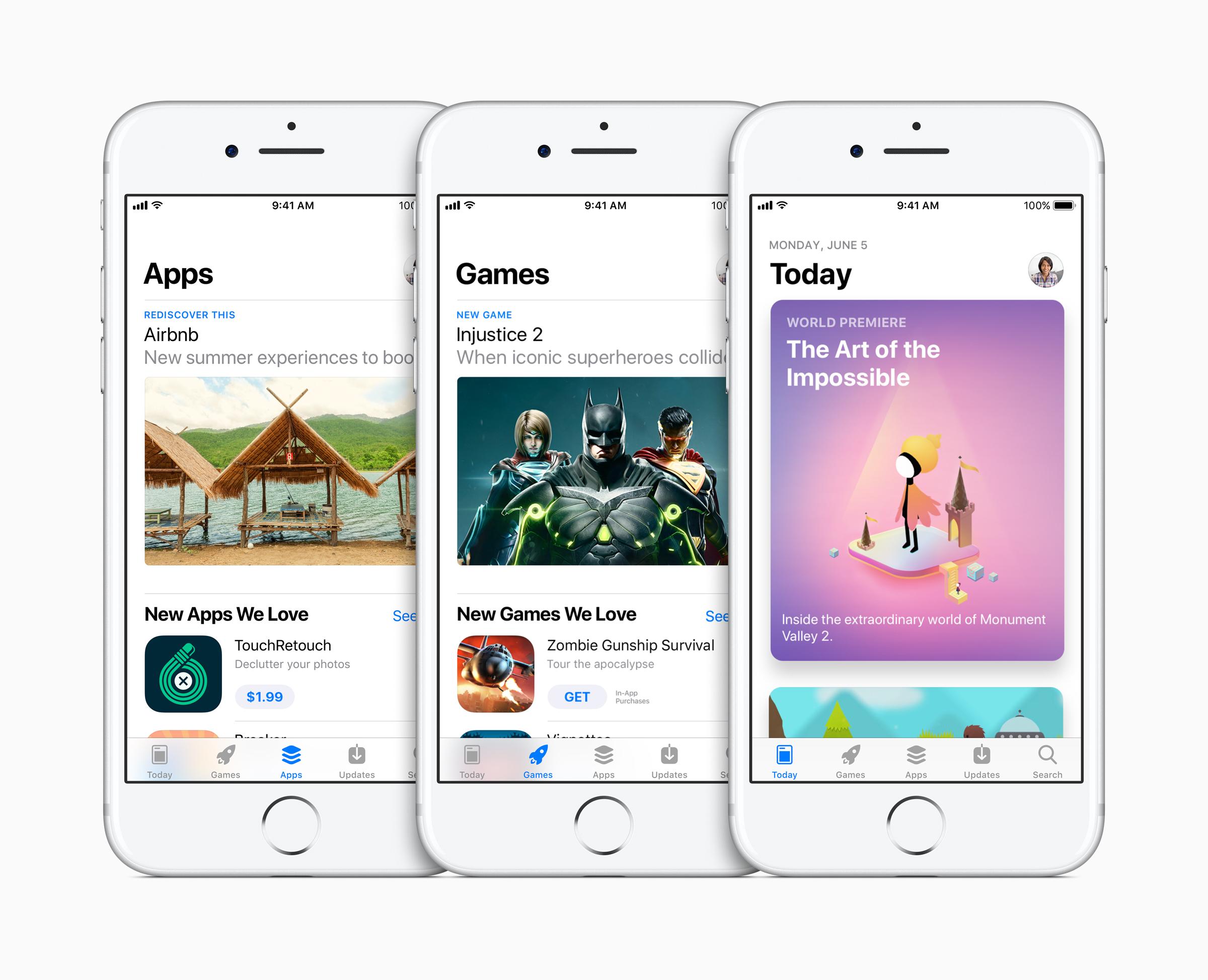 Apple, 완전히 새로운 App Store 공개
